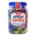 Walkers Assorted Toffees & Chocolate Eclairs Jar (450g) (Best Before: 10/02/17)